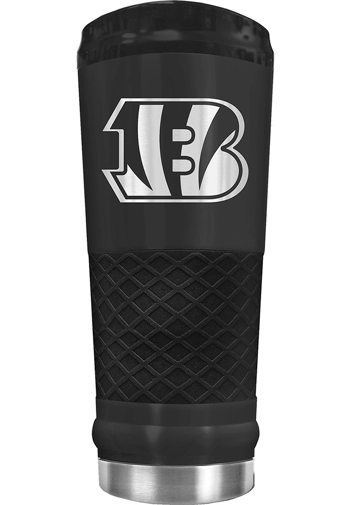 Cincinnati Bengals Stealth 24oz Powder Coated Stainless Steel Tumbler - Black - Image 1