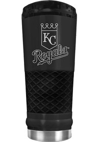 Kansas City Royals Stealth 24oz Powder Coated Stainless Steel Tumbler - Black