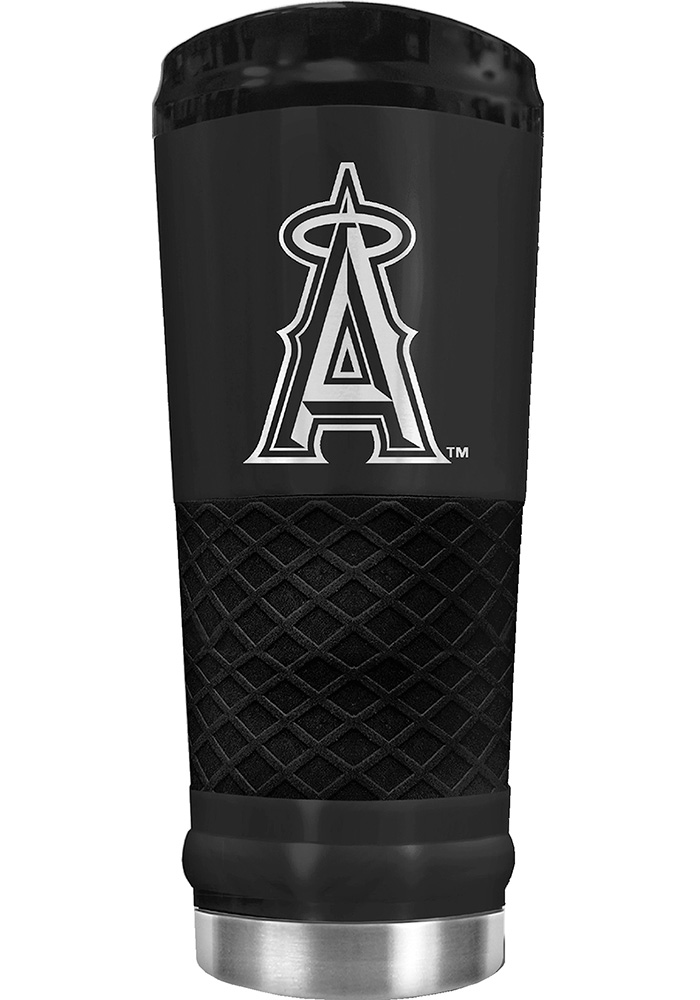 Los Angeles Angels Stealth 24oz Powder Coated Stainless Steel Tumbler - Black - Image 1