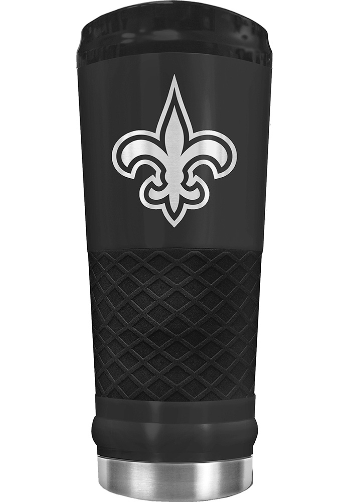 New Orleans Saints Stealth 24oz Powder Coated Black Stainless Steel Tumbler - Image 1