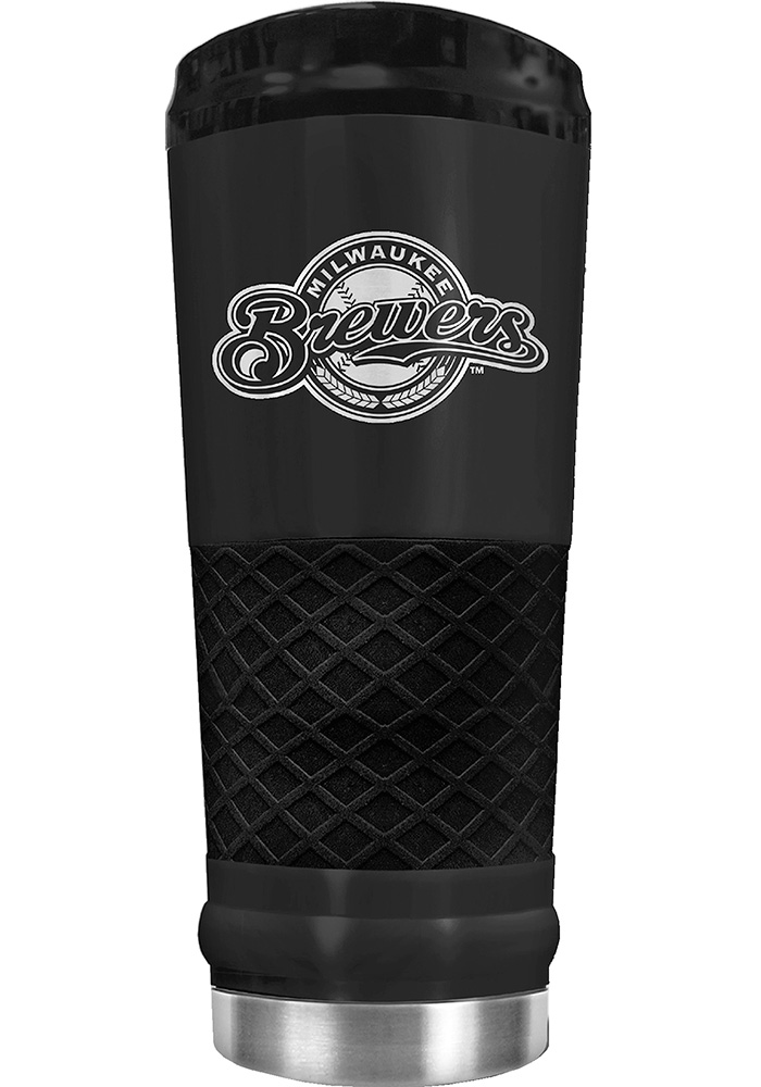 Milwaukee Brewers Stealth 24oz Powder Coated Stainless Steel Tumbler - Black - Image 1