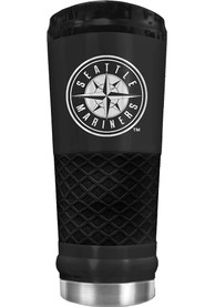 Seattle Mariners Stealth 24oz Powder Coated Stainless Steel Tumbler - Black