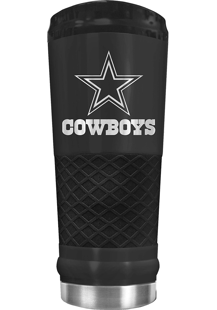 Dallas Cowboys Stealth 24oz Powder Coated Stainless Steel Tumbler - Black - Image 1