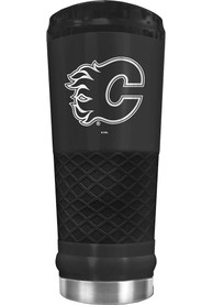Calgary Flames Stealth 24oz Powder Coated Stainless Steel Tumbler - Black
