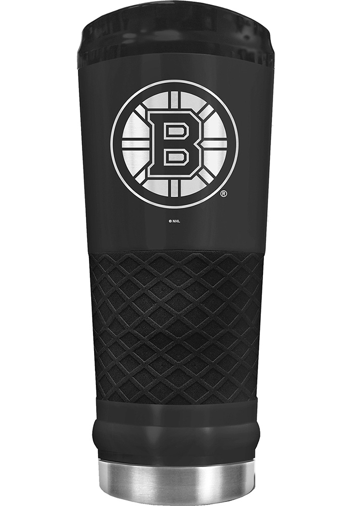 Boston Bruins Stealth 24oz Powder Coated Black Stainless Steel Tumbler - Image 1