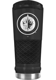 Winnipeg Jets Stealth 24oz Powder Coated Stainless Steel Tumbler - Black