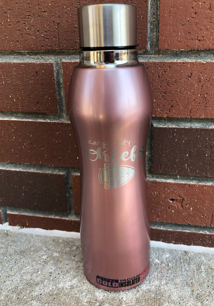Kansas City Chiefs 20oz Rose Gold Curve Stainless Steel Tumbler - Pink - Image 2