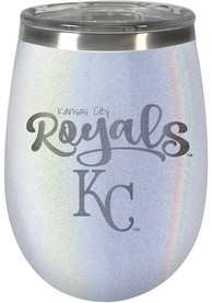 Kansas City Royals 10oz Opal Stemless Wine Stainless Steel Tumbler - White