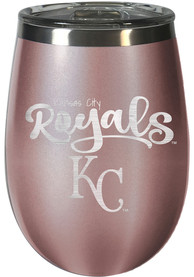 Kansas City Royals 10oz Rose Gold Stemless Wine Stainless Steel Tumbler - Pink