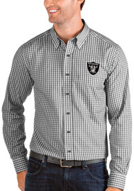Las Vegas Raiders Antigua Structure Dress Shirt - Black