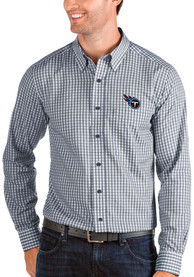 Tennessee Titans Antigua Structure Dress Shirt - Navy Blue