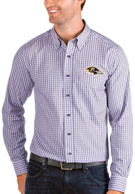 Baltimore Ravens Antigua Structure Dress Shirt - Purple