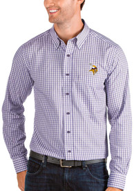 Minnesota Vikings Antigua Structure Dress Shirt - Purple