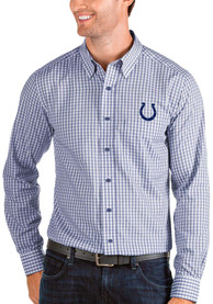 Indianapolis Colts Antigua Structure Dress Shirt - Blue