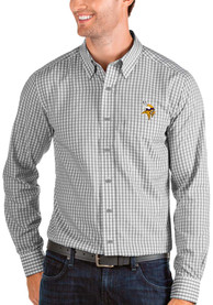 Minnesota Vikings Antigua Structure Dress Shirt - Grey