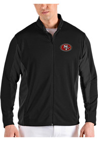 San Francisco 49ers Antigua Passage Medium Weight Jacket - Black