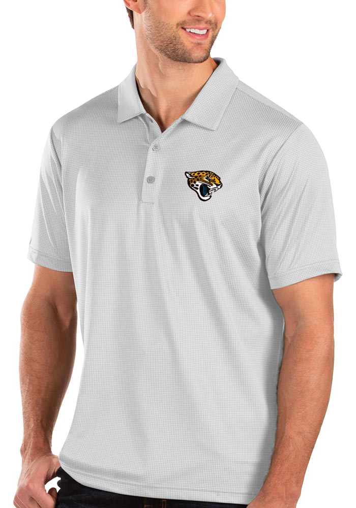 Antigua Jacksonville Jaguars Mens White Balance Short Sleeve Polo - Image 1