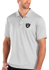 Las Vegas Raiders Antigua Balance Polo Shirt - White