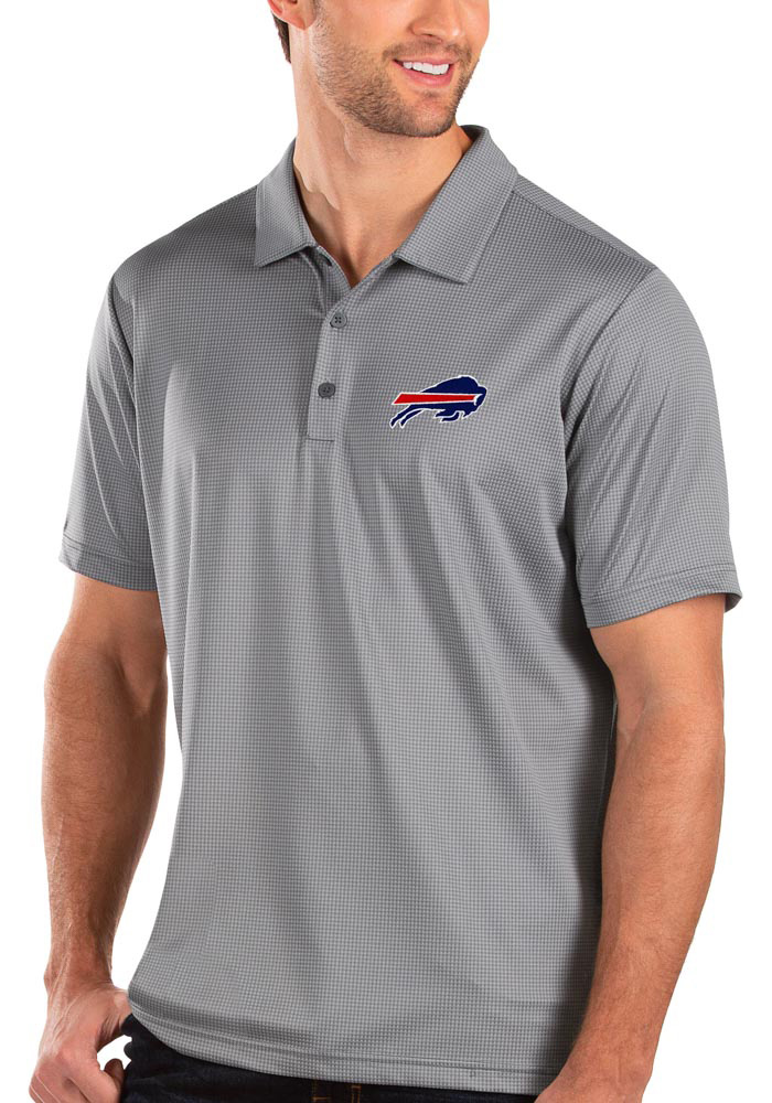 Buffalo Bills Antigua Balance Polo Shirt - Grey