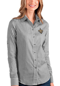 New Orleans Saints Womens Antigua Structure Dress Shirt - Black