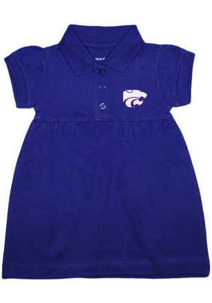 K-State Wildcats Baby Girls Purple Polo Dress