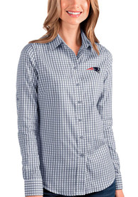 New England Patriots Womens Antigua Structure Dress Shirt - Navy Blue