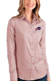 Buffalo Bills Womens Antigua Structure Dress Shirt - Red