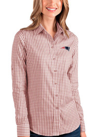 New England Patriots Womens Antigua Structure Dress Shirt - Red