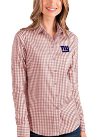 New York Giants Womens Antigua Structure Dress Shirt - Red