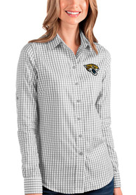 Jacksonville Jaguars Womens Antigua Structure Dress Shirt - Grey