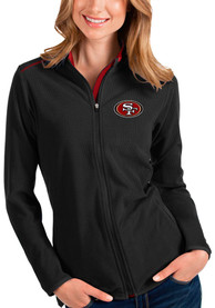 San Francisco 49ers Womens Antigua Glacier Light Weight Jacket - Black