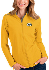 Green Bay Packers Womens Antigua Glacier Light Weight Jacket - Gold