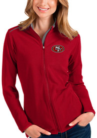 San Francisco 49ers Womens Antigua Glacier Light Weight Jacket - Red