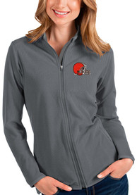 Cleveland Browns Womens Antigua Glacier Light Weight Jacket - Grey
