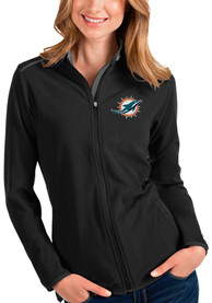 Miami Dolphins Womens Antigua Glacier Light Weight Jacket - Black