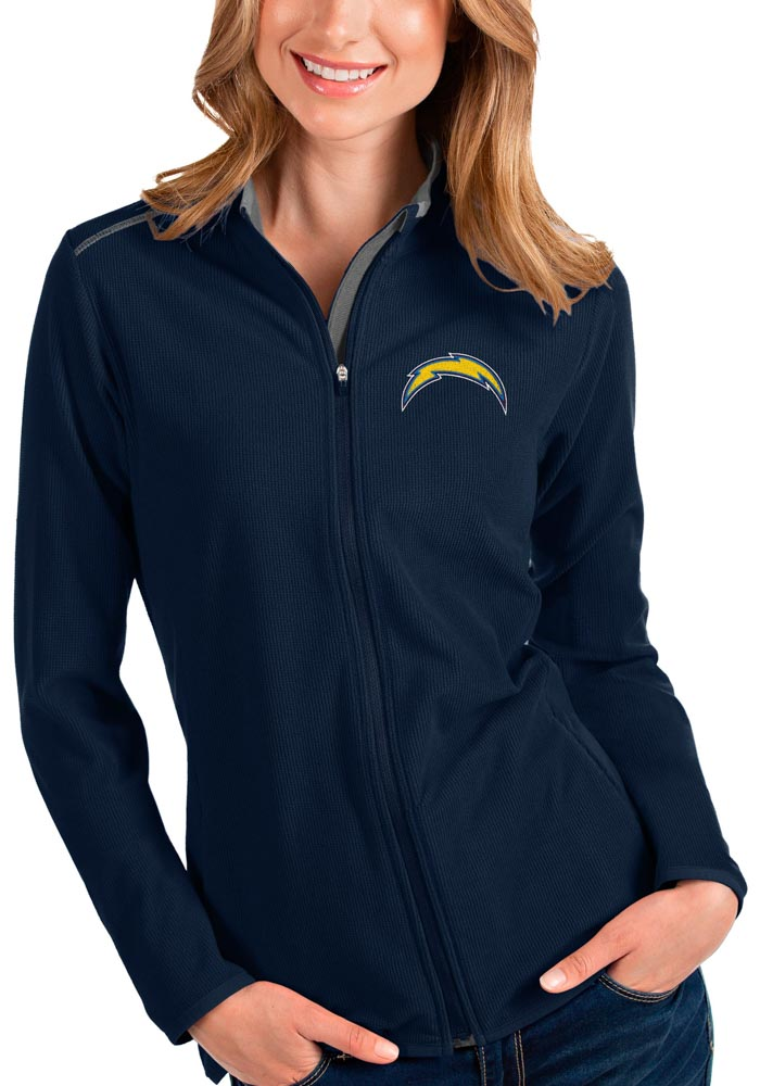 Antigua Los Angeles Chargers Womens Navy Blue Glacier Light Weight Jacket - Image 1