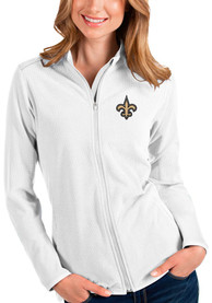 New Orleans Saints Womens Antigua Glacier Light Weight Jacket - White