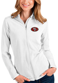 San Francisco 49ers Womens Antigua Glacier Light Weight Jacket - White