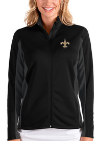 New Orleans Saints Womens Antigua Passage Medium Weight Jacket - Black