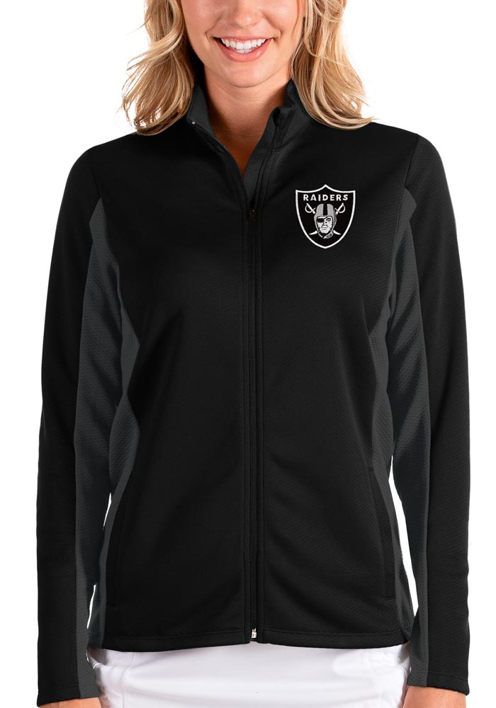 Antigua Las Vegas Raiders Womens Black Passage Medium Weight Jacket - Image 1