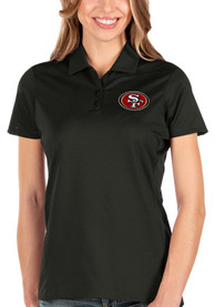 San Francisco 49ers Womens Antigua Balance Polo Shirt - Black