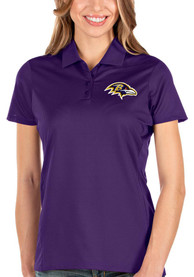 Baltimore Ravens Womens Antigua Balance Polo Shirt - Purple