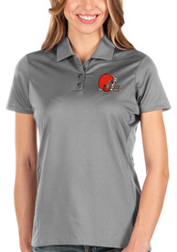 Cleveland Browns Womens Antigua Balance Polo Shirt - Grey