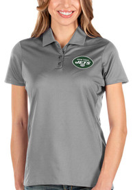 New York Jets Womens Antigua Balance Polo Shirt - Grey