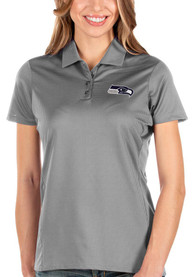Seattle Seahawks Womens Antigua Balance Polo Shirt - Grey