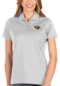 Baltimore Ravens Womens Antigua Balance Polo Shirt - White