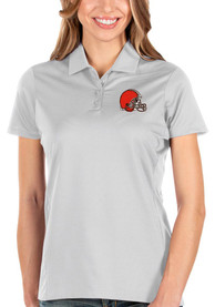 Cleveland Browns Womens Antigua Balance Polo Shirt - White