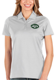 New York Jets Womens Antigua Balance Polo Shirt - White