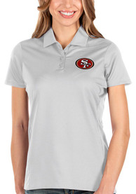 San Francisco 49ers Womens Antigua Balance Polo Shirt - White
