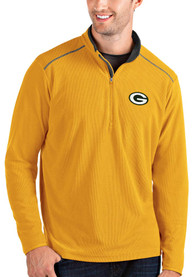 Green Bay Packers Antigua Glacier 1/4 Zip Pullover - Gold